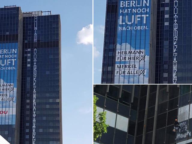 Berlin Kidz bomben 120 Meter hohes Hochhaus am Steglitzer Kreisel