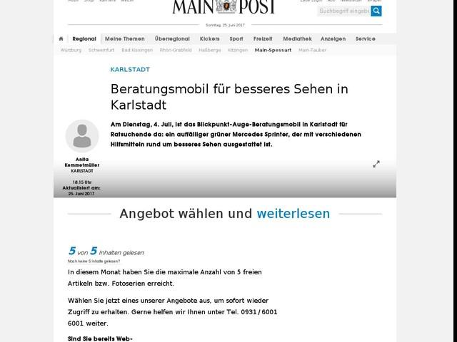 Beratungsmobil für besseres Sehen in Karlstadt