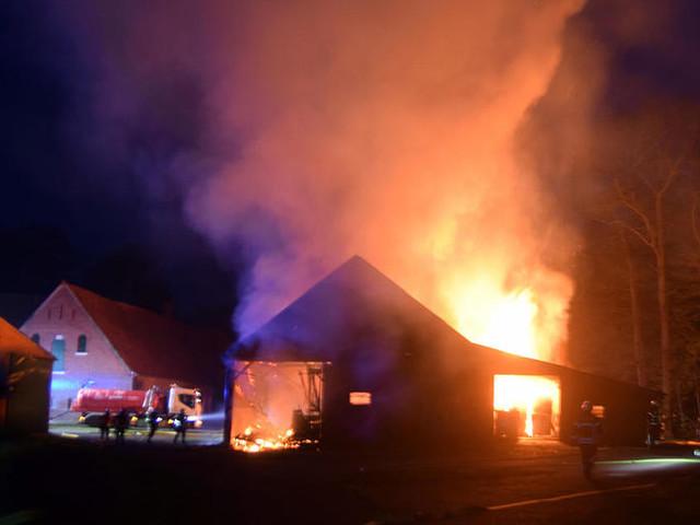 Münsterland: Scheunenbrand in Metelen: Hoher Sachschaden, keine Verletzten