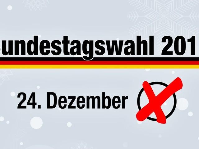 Bundeswahlleiter: Neuwahlen sollen am 24. Dezember stattfinden