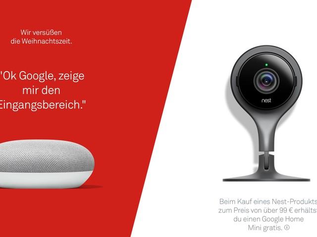 Beim Kauf von Nest-Produkten gibt es Google Home Mini geschenkt