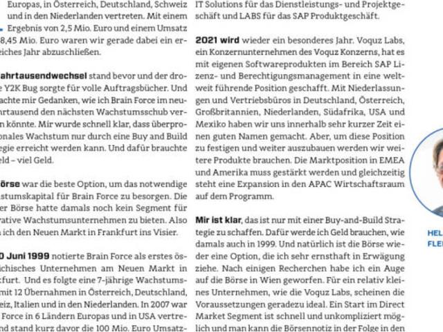 Börsegeschichten für BoerseGeschichte - Brain Force & Voquz: Buy and Build über die Börse (Helmut Fleischmann)