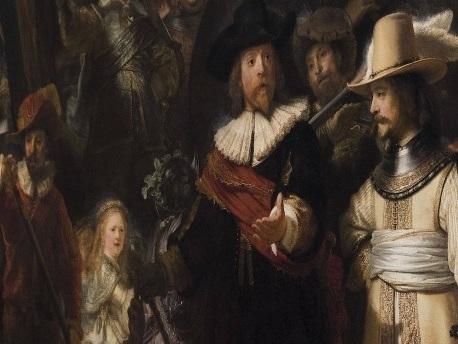 """Berühmtes Gemälde: Rembrandts """"Nachtwache"""" wird vor aller Augen restauriert"""