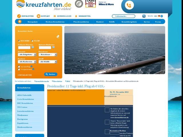 Preisknaller: 11 Tage inkl. Flug ab € 619,- - Kreuzfahrt Newsletter auf Kreuzfahrten.de