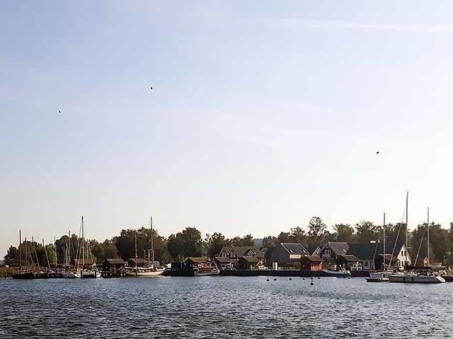 Ein neues Rügenaquarell aus dem Hafen von Gager