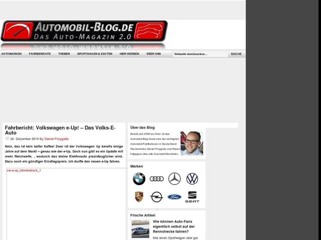 Fahrbericht: Volkswagen e-Up! – Das Volks-E-Auto
