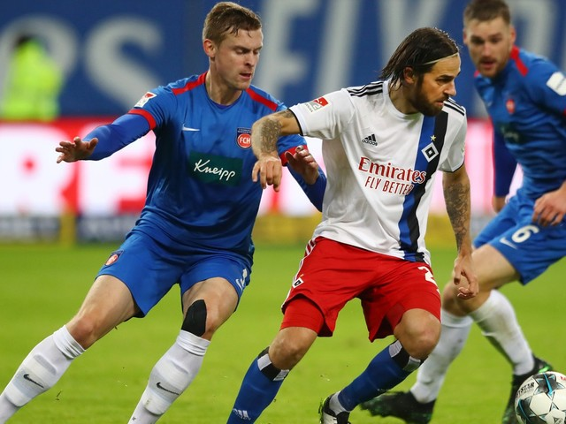 Fußball, 2. Liga: Hamburger SV verliert gegen den 1. FC Heidenheim
