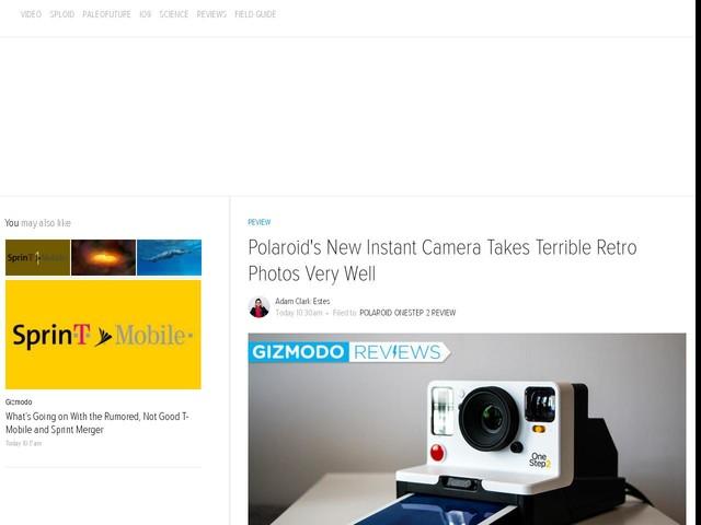 Polaroid's New Instant Camera Takes Terrible Retro Photos Very Well