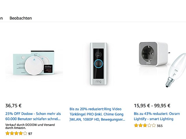 Amazon Blitzangebote: Philips Hue, iPhone 8 Cases, Smart Home, 4K Actioncam, Saugroboter, Apple Watch Armband und mehr