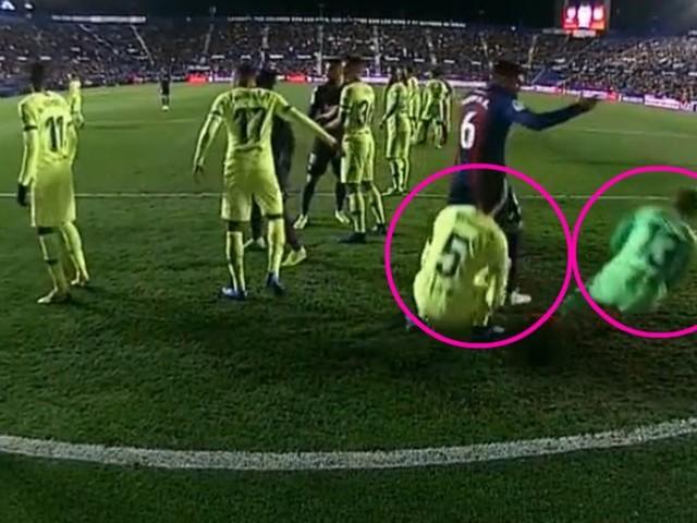 Die Schauspielschule des FC Barcelona präsentiert: Die Synchron-Schwalbe