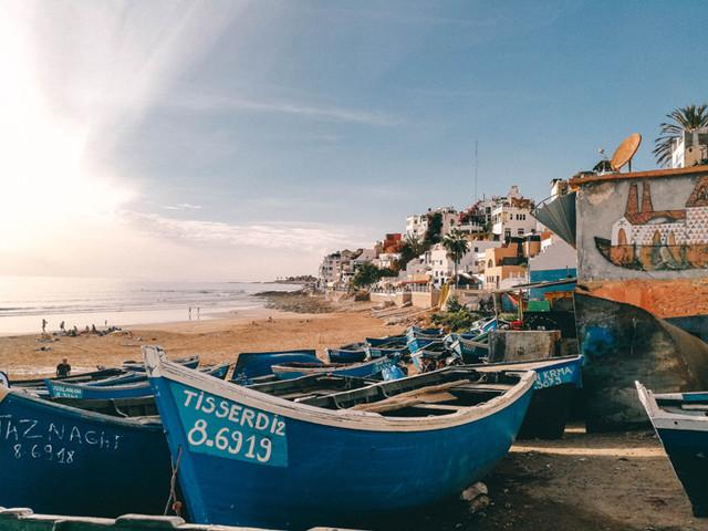 Marokko Insider Tipp – Taghazout, ein Fischerdörfchen am Meer