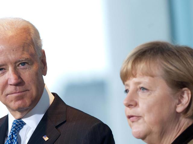 Konflikt in der Ostukraine: Merkel und Biden unterstützen Forderungen an Putin