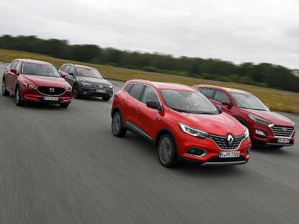 VW Tiguan, Renault Kadjar, Hyundai Tucson, Mazda CX-5: Test Wer schlägt den Tiguan?