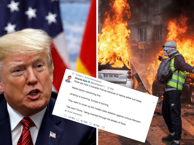 """Trump teilt Tweet über """"Gelbwesten"""" – alles darin ist eine Lüge"""