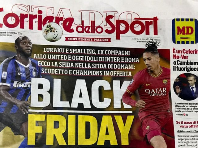 """Corriere dello Sport: Sportzeitung sorgt mit """"Black Friday""""-Schlagzeile für Skandal"""