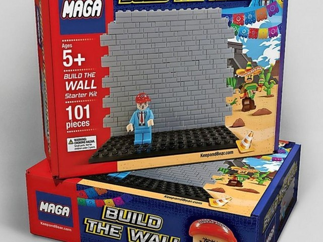 Trump baut die Mauer – in Miniaturform