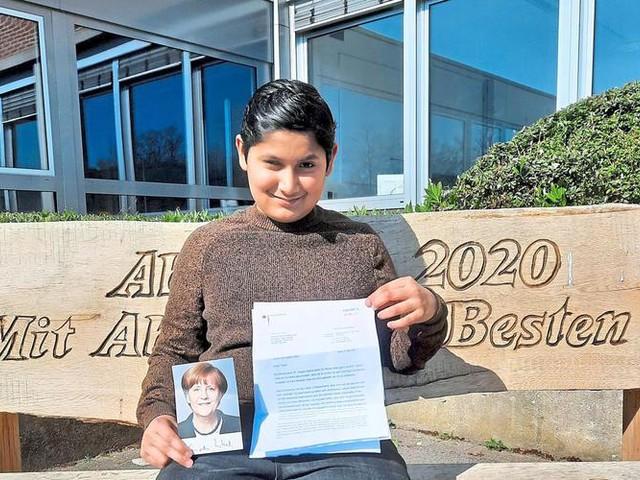 Münsterland: Grevener Schüler bekommt Post von Angela Merkel