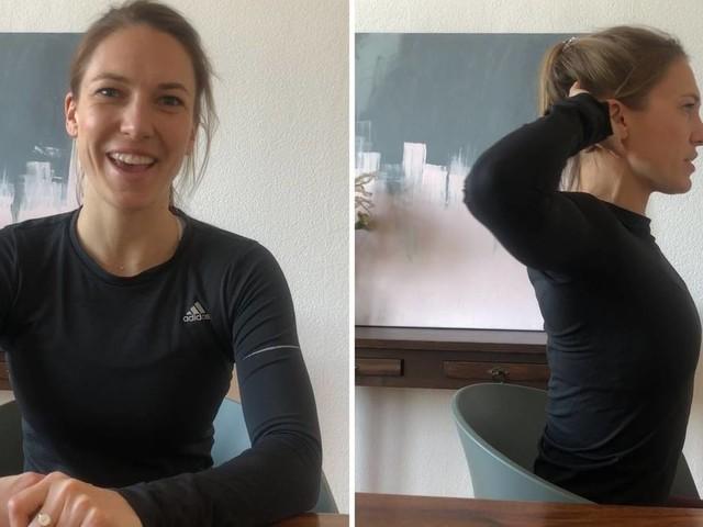 Schultern, Rücken und Nacken: Fitness am Schreibtisch: Mit diesen Übungen beugen Sie Rückenschmerzen vor