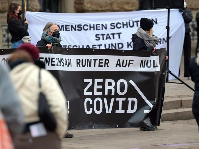 Zero-Covid-Strategie: Menschen demonstrieren für härteren Lockdown