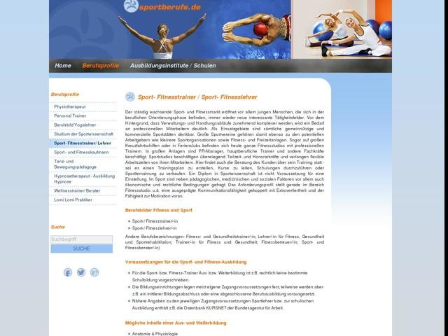 Fitness- und Sportlehrer, Fitnesstrainer, Ausbildung Trainer - Infoportal Aus-/ Weiterbildung Gesundheit, Fitness, Wellness