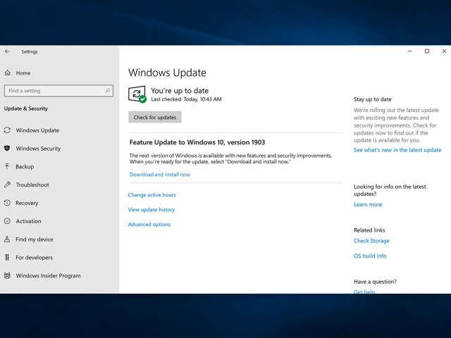 Windows 10 Mai 2019 Update: Installation nur ohne USB-Drive