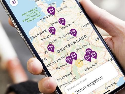 FlipCar-App vermittelt Mietwagen für 1 Euro