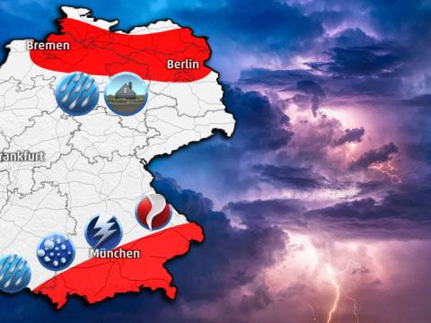 Unwetter am Wochenende: Bis zu 100 Liter Regen - Hochwassergefahr steigt von Hamburg bis Berlin