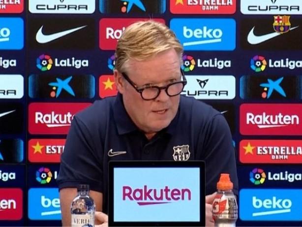 Bizarrer PK-Auftritt: Barça-Coach Koeman liest nur Statement vor