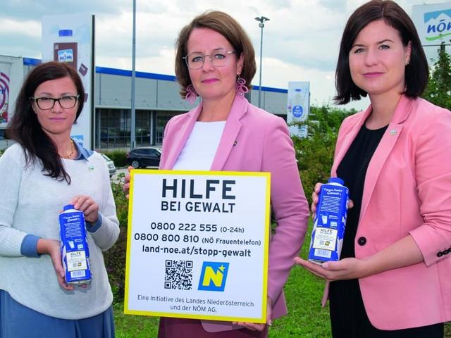 Notrufnummern werden auf Milchpackerl gedruckt