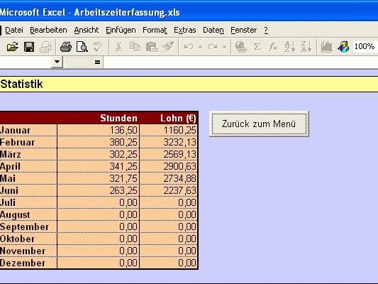 Arbeitszeiterfassung für Excel Download | Freeware.de