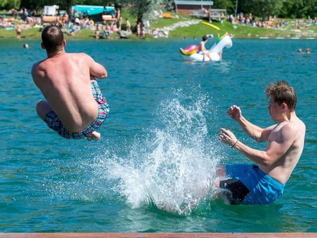 Hitzewelle: Badeseen wärmen sich rasant auf