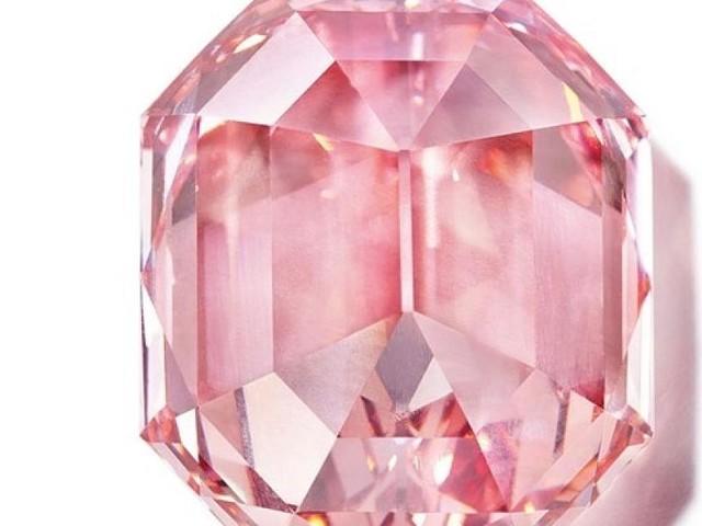 Genf - Nach sechsminütigem Bietergefecht: Rosa Diamant für Rekordsumme versteigert
