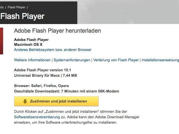 Adobe Flash Player: Deine Updates werden fehlen