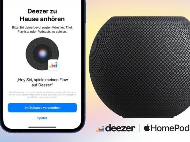 Apple HomePod streamt jetzt Deezer