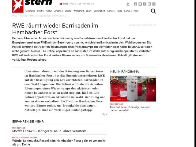 RWE räumt wieder Barrikaden im Hambacher Forst