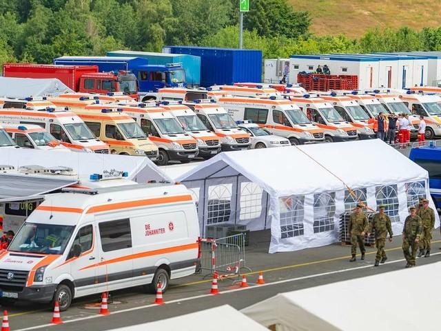 Sammelstelle für Hilfsgüter: Nürburgring ist Logistikzentrale für die Katastrophenhilfe