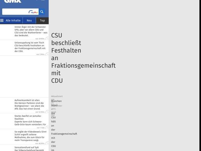 CSU beschließt Festhalten an Fraktionsgemeinschaft mit CDU