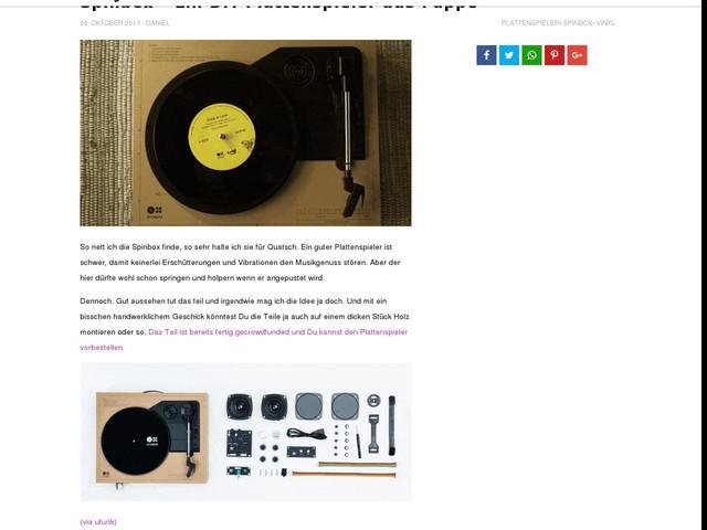 Spinbox – Ein DIY-Plattenspieler aus Pappe