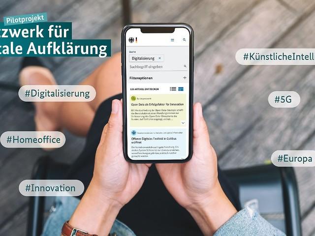 Eigene Suchmaschine startet: Bund will über Digitalisierung aufklären