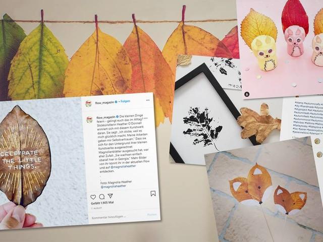 Basteln mit bunten Blättern – ein großer Spaß (nicht nur) für Kinder