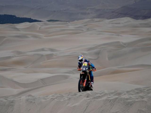 Walkner fuhr auf der längsten Dakar-Etappe auf Rang drei