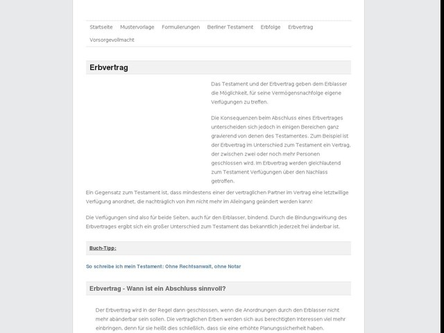 erbvertrag finanzen anygatorcom - Erbvertrag Muster