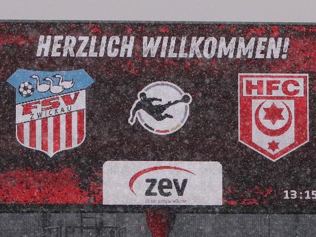 FSV Zwickau - HFC: 0:1 - Manus Traumtor bringt die Führung