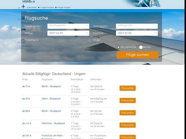 Flug Ungarn - günstige Flüge   billigflieger.de