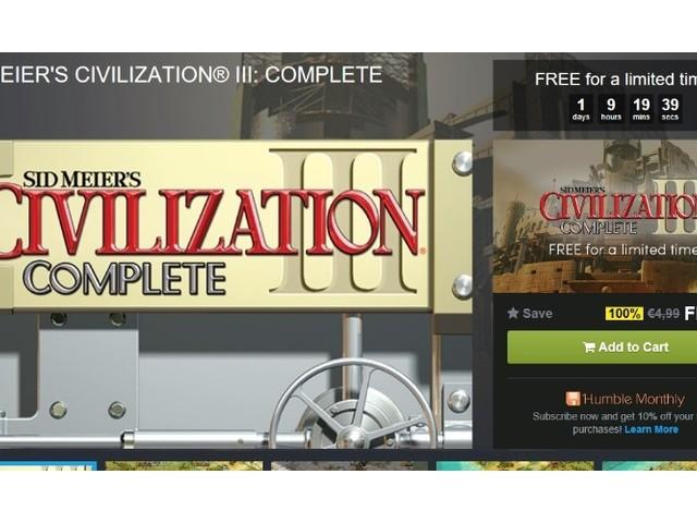 Civilization III Complete aktuell gratis erhältlich