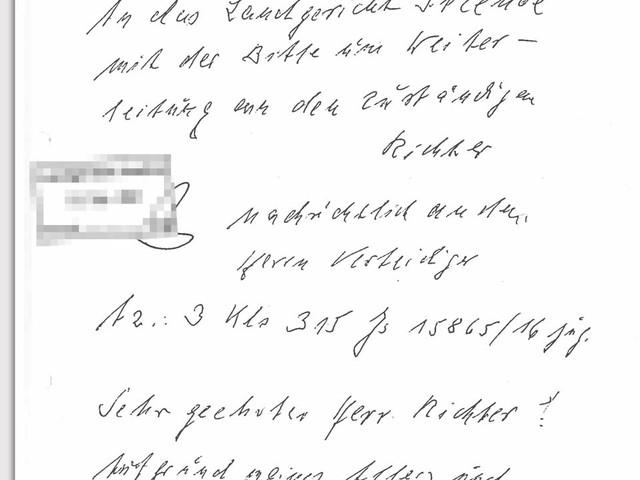 Irmgard Furchner: Ehemalige KZ-Sekretärin schreibt Brief an den Richter