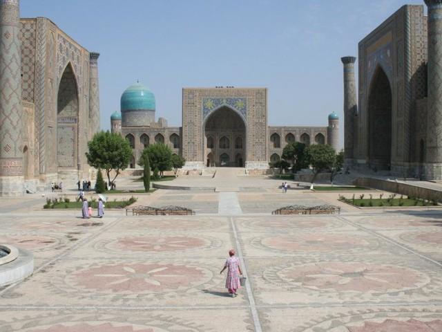 Der Registan in Samarkand: Das Handeln hat nie aufgehört