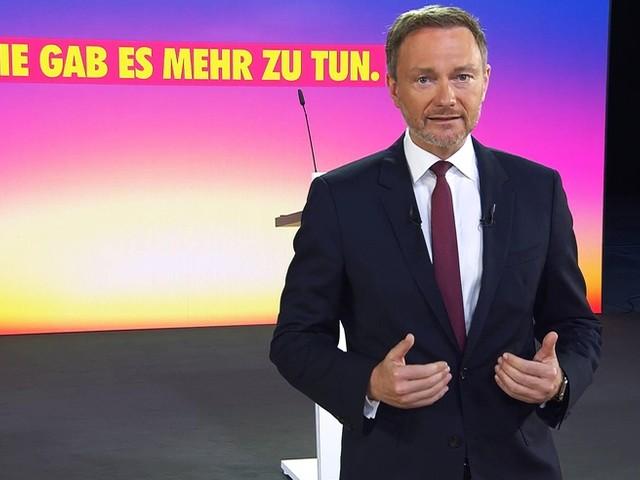 Christian Lindner mit 93 Prozent als FDP-Chef wiedergewählt