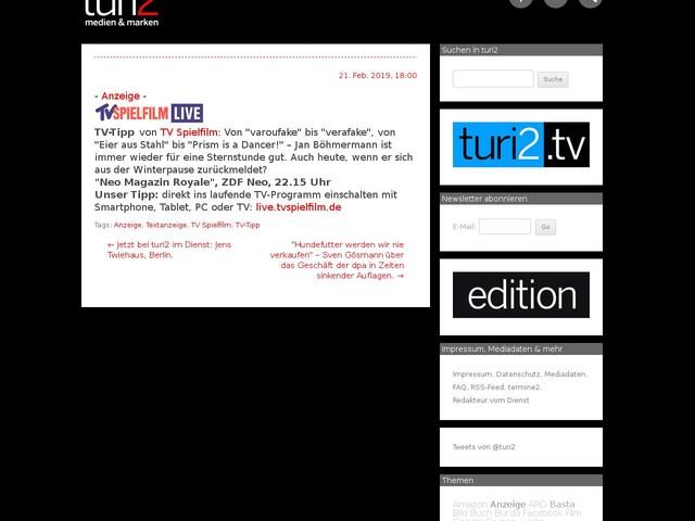 Anzeige Tv Tipp Von Tv Spielfilm Die Klempnerin Finanzen