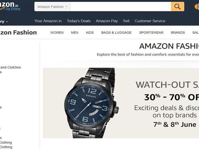 Kleidung beliebteste Kategorie bei Amazon India